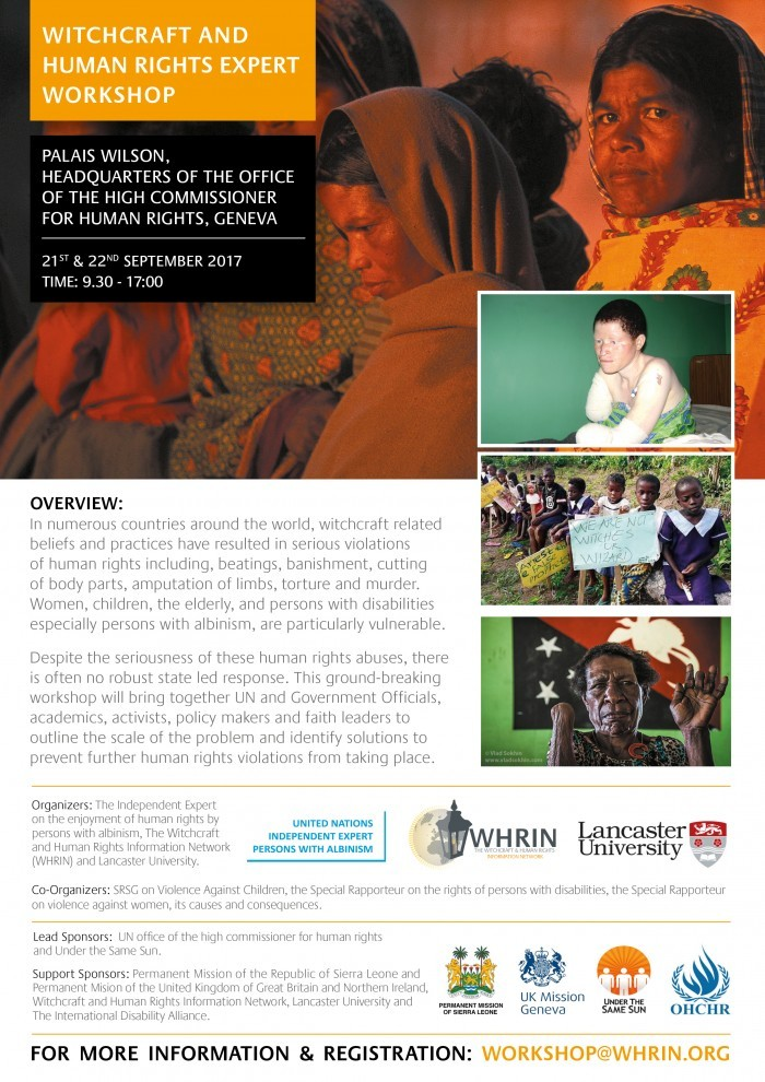 UN Human Rights Council Event – Witchcraft and Human Rights